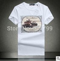 Free Shipping 2014 NEW Fashion Men T Shirt Short Sleeve Brand New Designer Shirts SIZE:M,L,XL,XXL Men Clothing
