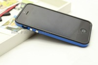 Black Side Colorful Middle TPU Bumper Frame Case With Side Aluminum Button For iPhone 5/5S with retail package