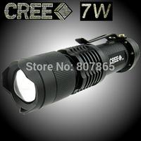 15Pcs/Alot ZOOMABLE  400 Lumens CREE  Q5  LED   Flashlight Torch Mini Flashlight  FREE Shipping