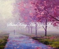 handpainted  impressional landscape oil painting on canvas fine art home decor FJI2242 50x60cm