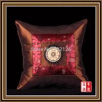PCS10-4 100% silk Luxury Factory Wholesale Free Shipping Square Pillowcase Pillow Cover Cushion Case Satin Bed Sofa car Decor