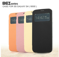 KALAIDENG  for Samsung Galaxy S4 i9500 bei leather cover, s4 leather case, free shipping ,drop ship