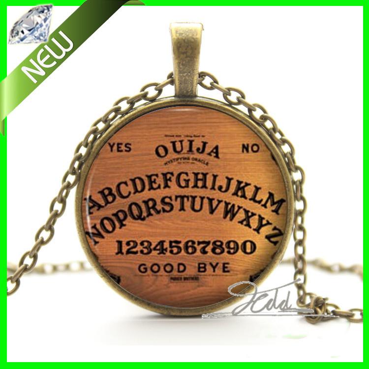 Vintage Bronze Ouija Board Necklace - Antque Style Spirit World Seance Jewellery