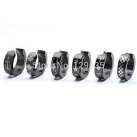 New No pierced Skull Love Heart Star Scorpion titanium steel Men earrings 13 styles for choose free shipping
