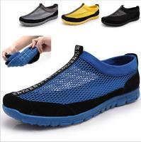 2014 summer men comfortable breathable mesh shoes men's casual shoes sports shoes men sneakers gauze beach shoes