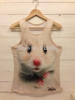 2014 New style Free shipping men t shirt mens o-neck Fashion vest 3d cotton t shirt ,3D printed t-shirts