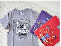 new summer 2014 men and women Tiger short-sleeved cotton t-shirt