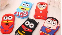 3D Spiderman Iron man Superman Captain America Me 2 Minions Soft Silicone Back Cover Case for Samsung Galaxy S3 i9300 50PCS/lot