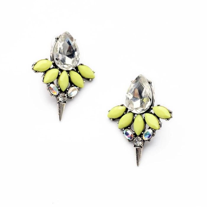 2014 Branded Earrings Neon Green Honey Bee Rivet Earrings