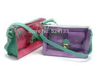 orsa oro Transparent  Multi-Pocket candy hit color Diagonal shoulder bag Knight Portable handbag yy116
