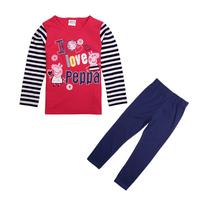Children hoodies 2014 NOVA brand new girls wear clothing set printed cartoon pattern with zipper spring and autumn girls  FG4741