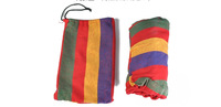 The single hammock camping survival hammock Parachute cloth outdoor or indoor 260*80cm 1pcs