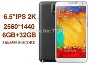 "6.5""IPS MTK6592 8+8core Air Gesture 6GB+32GB n9200 2K 2560*1440  18MP/13MP Android 4.4.5 dual SIM WCDMA Smart Phone Tablet PC"