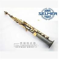 FREE SHIPPING DHL  Salma 54 selmer  Soprano Saxophone whole pipe / tube black nickel and gold