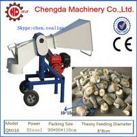 Chengda QMJ16 wood chipper firewood machine driven by gasoline engine