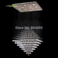 Modern Diamond Crystal Pendant Light Rain Drop Chandelier Lighting