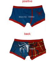 free shipping 2014 Men spiderman cartoon  boxer underwear