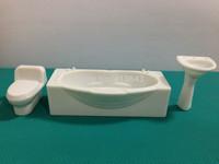 100pcs 1:20 WC & 100PCS 1:25 WC, 50 PCS 1:20 wash basin & 50pcs 1:25 wash basin for bathroom furniture