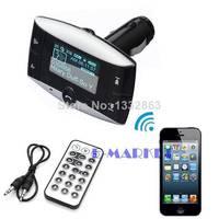 Hot Sale 2014 New Car Kit FM Transmitter Bluetooth Modulator MP3 Player USB Charger SD Slot b4 SV004149