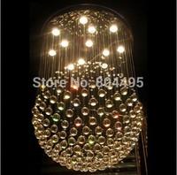 New Modern Round Crystal Ceiling Light Pendant Lamp Sphere Chandelier