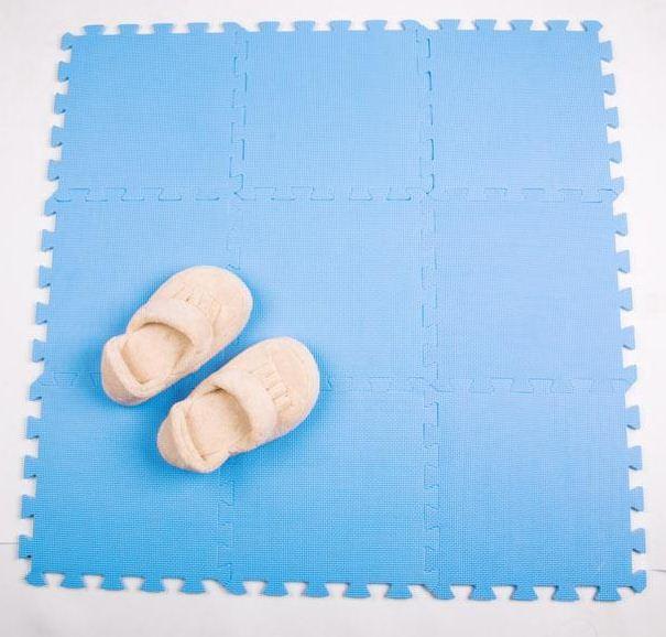 30*30 9Pcs/Lot Brand Mingde Solid Color Environmental Protection EVA Puzzle Foam Pad Baby Toys Play Mat Crawling Carpet(China (Mainland))