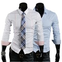 Free Shipping New man spring 2014 Autumn Shirt Korean business men casual shirts long sleeve shirt
