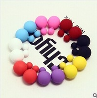 PROMOTION 8 Color Oil-painting Two Side Usage Ball Ear Cuff Exaggerated Earrings Women 2014 Vintage  3 pairs/lot