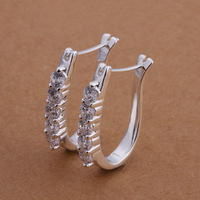 Earrings -TTSE310-wholesale 925 silver earrings,2014 New hot,Free shipping,fashion/classic jewelry, Nickle free,factory price
