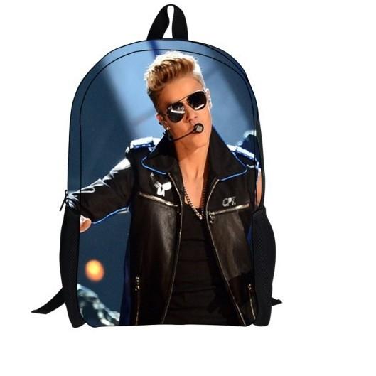nouvelle mode justin bieber 3d l'impression à dos sac casual sacs d ...