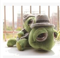 Large 40 cm cartoon toys genuine gentleman cap eyed turtle plush toy doll