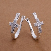 Earrings -TTSE311-2014 New hot,Free shipping,wholesale 925 silver earrings,fashion/classic jewelry, Nickle free,factory price