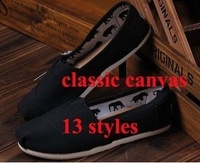 Wholesale size 35-45 Hot sale unisex fashion women men canvas shoes classic canvas flat loafers flat casual shoes sneakers