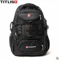 High quality Swiss gear laptop backpack male bag female 15.6 travel bag student backpack