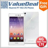 "Original Huawei P7 Hisilicon Kirin 910T Quad Core Mobile Phone 2GB RAM+16GB ROM 13.0MP+8.0MP Camera  4G FDD/TDD LTE  5.0"" Incell"