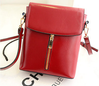 New Fashion Small Handbags for Women High Quality Genuine Leather Zipper Decoration Shoulder Bags Ladies Square Messenger Bags