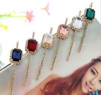 Fashion Rhinestone Diamond Shape Crystals 12PCS Lot Hair Pins Hair Clips Barrettes Free Shipping