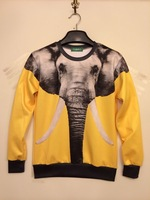 Women/Men 3d Print Animal Series Elephant Printed Sweatshirts Pullover Hoody Sweaters Plus Size Casual Clothes