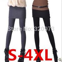 S-4XL skirt leggings for women 2014 women cotton blends extra plus size leggings with skirt  free shipping