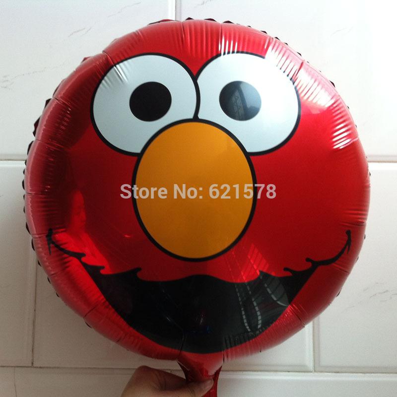Elmo Cartoon Head Round Big Head Elmo Helium