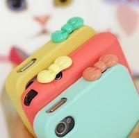 Cute Candy Color Resin Eco 3.5 mm Bow Cell Phone Dust Plug Earphone Jack Plug R-275