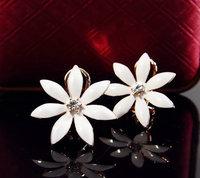 Hotsale Rose gold plated oil-droping epoxy flower stud earrings fashion wholesale fashion jewellery
