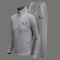 New 2014 Fashion Brand Jacket Hoodies Cotton Man Sports Suit Clothing Coat+Pants 2pcs Casual Tracksuit Sets Jogging Sweatshirts