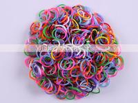 Free shipping! 600pcs/bag hot selling wholesale Rainbow Tie Dye Colors Bandz Bracelet Refills Rubber Bands + 25 Clips