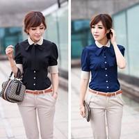 Career shirt send tie 2014 new Promotions hot trendy cozy women clothes plus size Casual shirt Korean Slim shirt