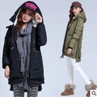 Winter coat women 2014 big yards thick Down jacket Girls Long desigual casacos femininos winter warm Down coat  Women clothing