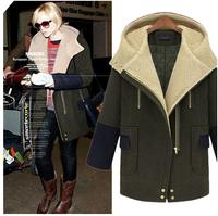 Free Shipping 2014 winter warm coats women wool slim wool coat winter jacket women fur women's coat jackets wool coat outerwear