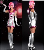 Sexy Space Girl Women Adult Costume  Fancy party dress Halloween