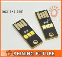 10PC Mini LED Night Light Pocket Card Lamp Led Keychain Lamp Portable USB LIGHT