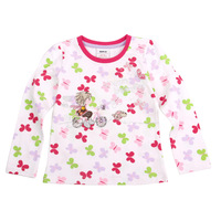 Fast Delivery F2951# 2014 new hot fashion nova kids brand baby boys children clothing cotton spring long t shirt for baby girls