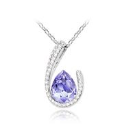Hot-selling austria crystal  birthday gift women's accessories curviplanar drop  pendant